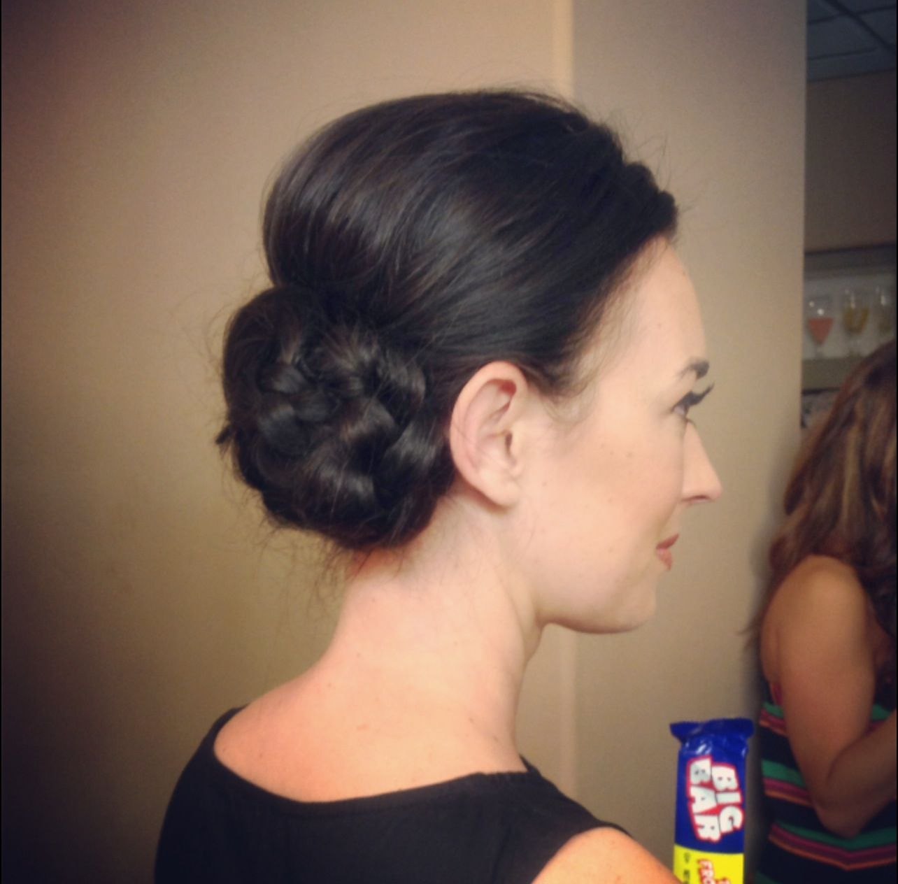 cute mixed girl hairstyles : Side messy bun Cute wedding hairstyle COSMO Pinterest