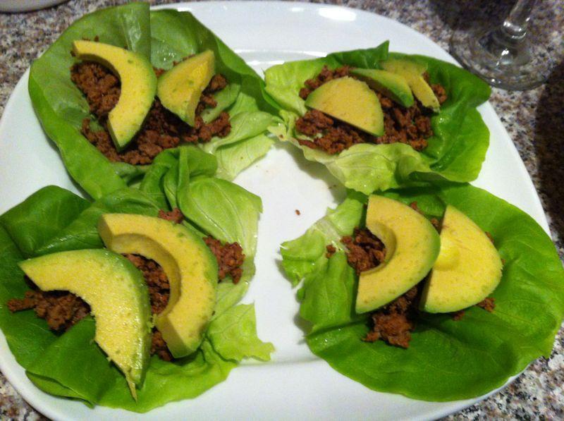 Turkey Lettuce Wrap Taco's Recipe — Dishmaps