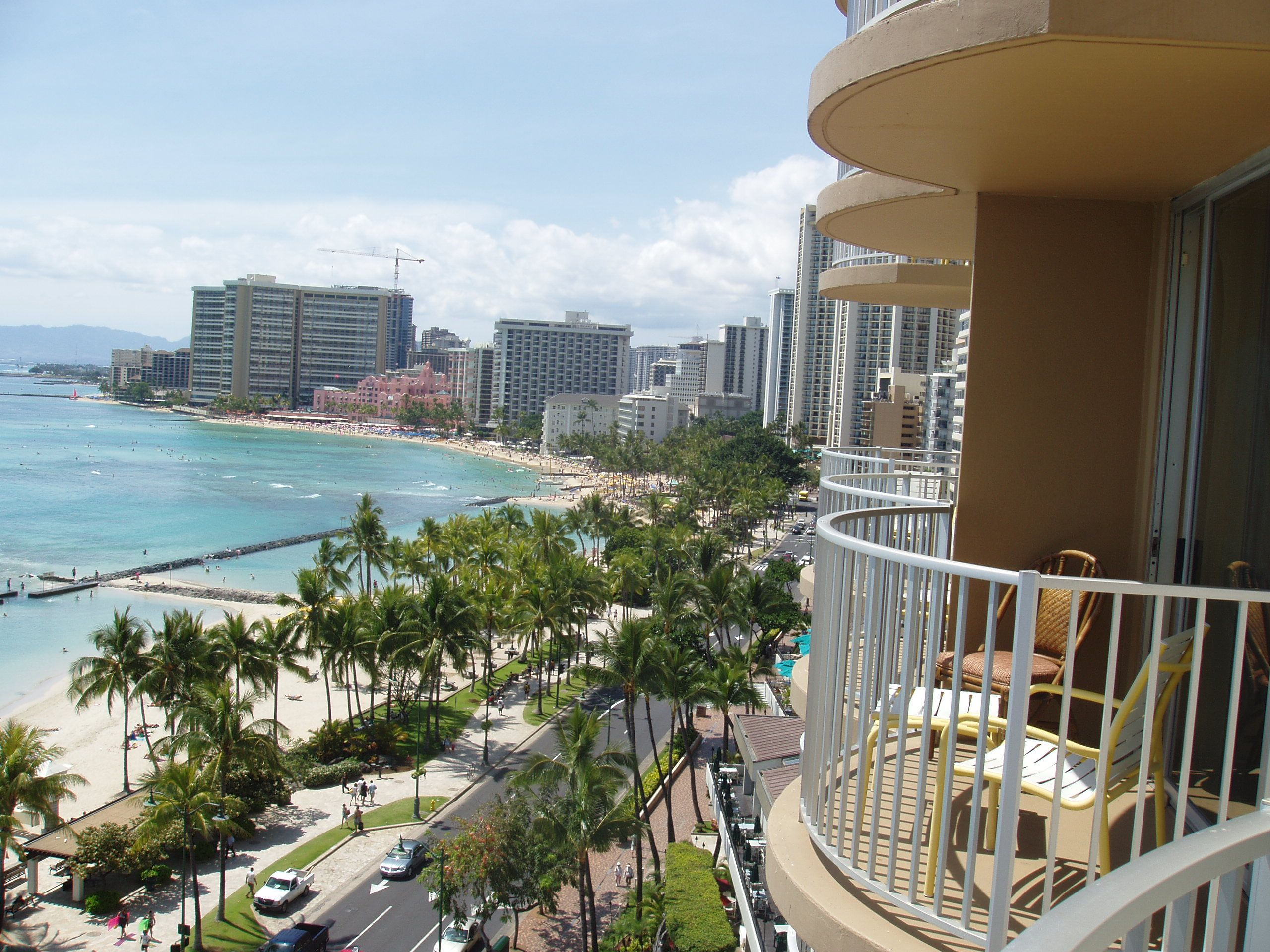 Oahu coast from hotel balcony hawaii pinterest for Hotel balcony