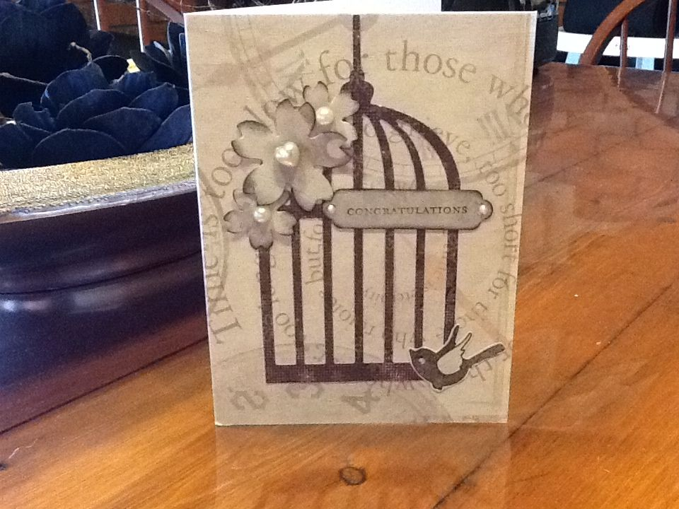 Another bird cage card i do pinterest