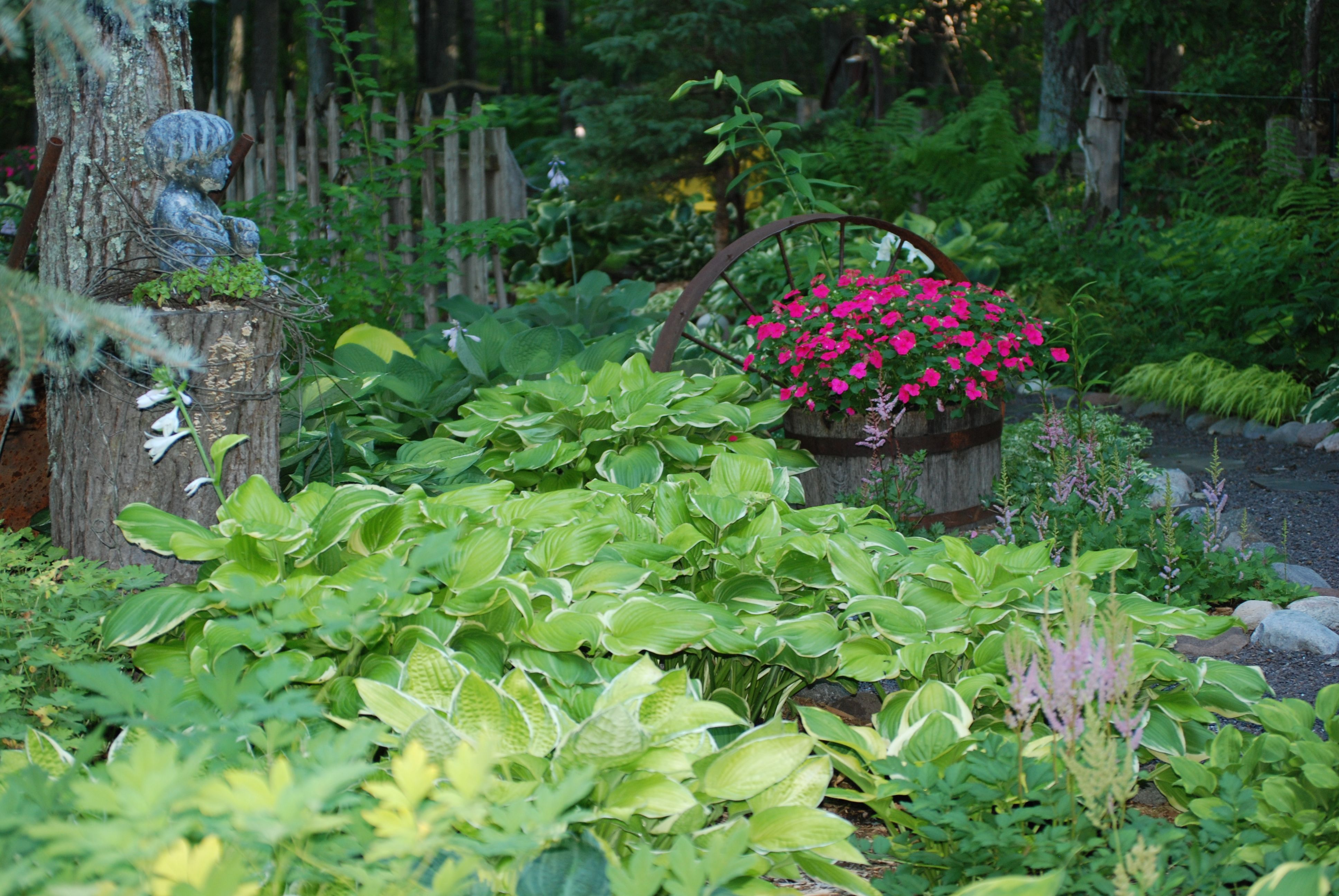 Shade garden in my backyard pinterest for Landscape my garden