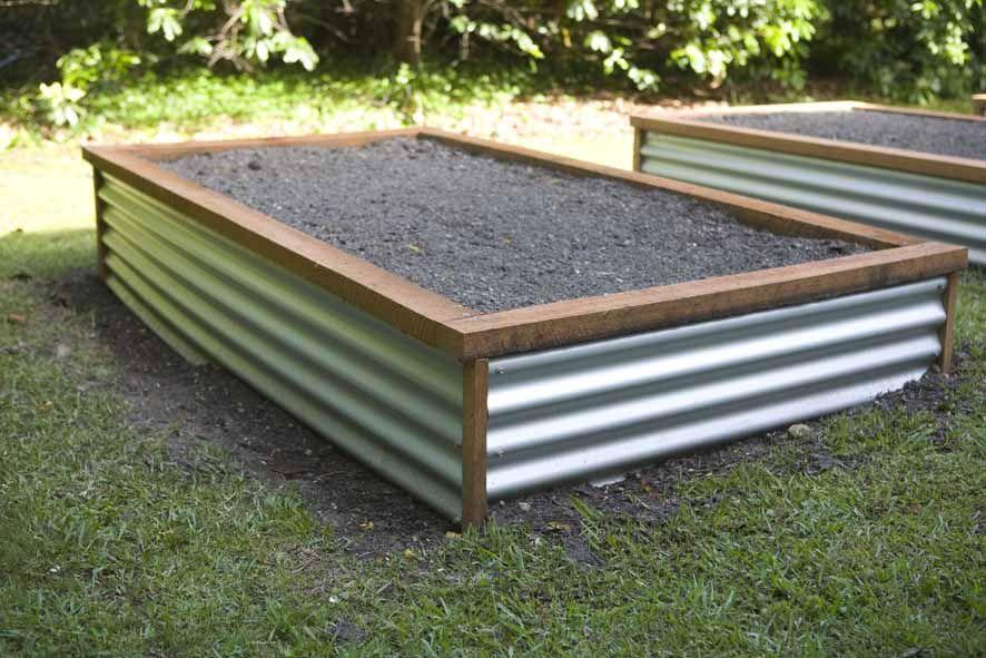 metal raised bed childrens garden pinterest. Black Bedroom Furniture Sets. Home Design Ideas