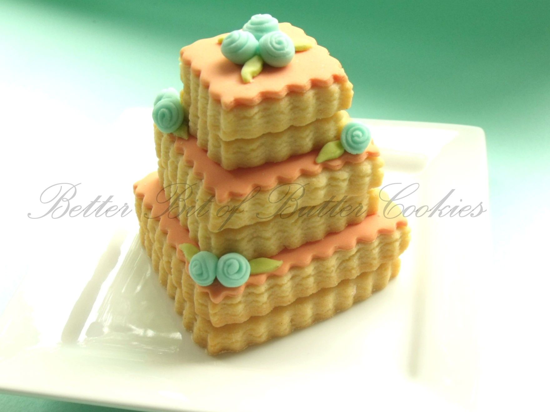 Stacked wedding cookie | Decorated Cookies | Pinterest