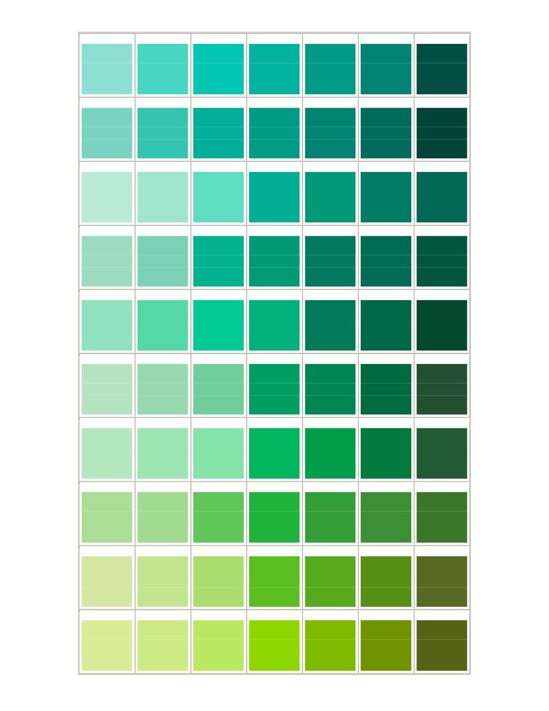 green color chart colors pinterest. Black Bedroom Furniture Sets. Home Design Ideas