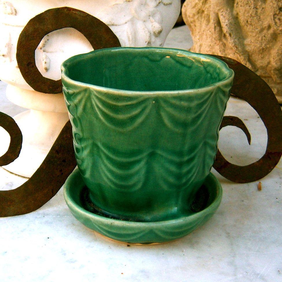 mccoy pottery planter greens