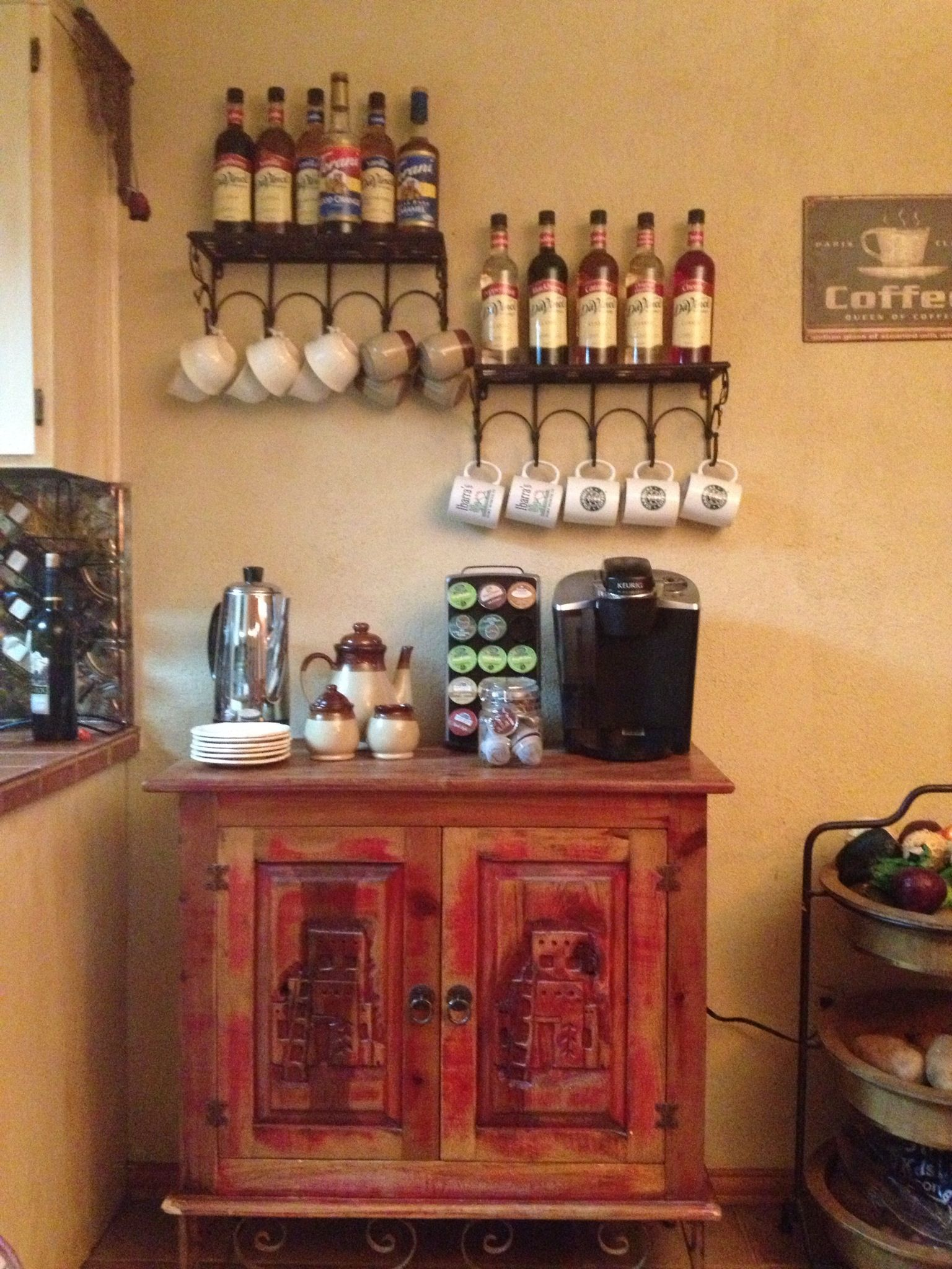 My coffee bar diy pinterest for Kitchen area ideas