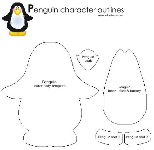 PENGUIN CRAFT TEMPLATE | Winter/Snowmen/Penguins | Pinterest