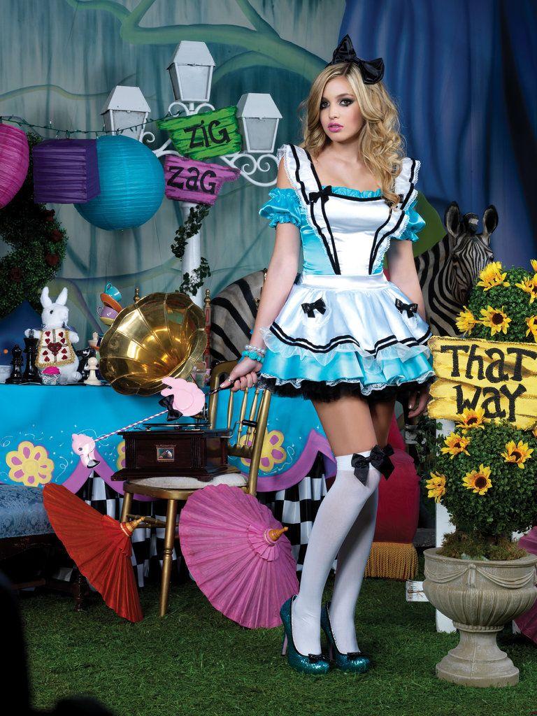 Adult alice costume in wonderland