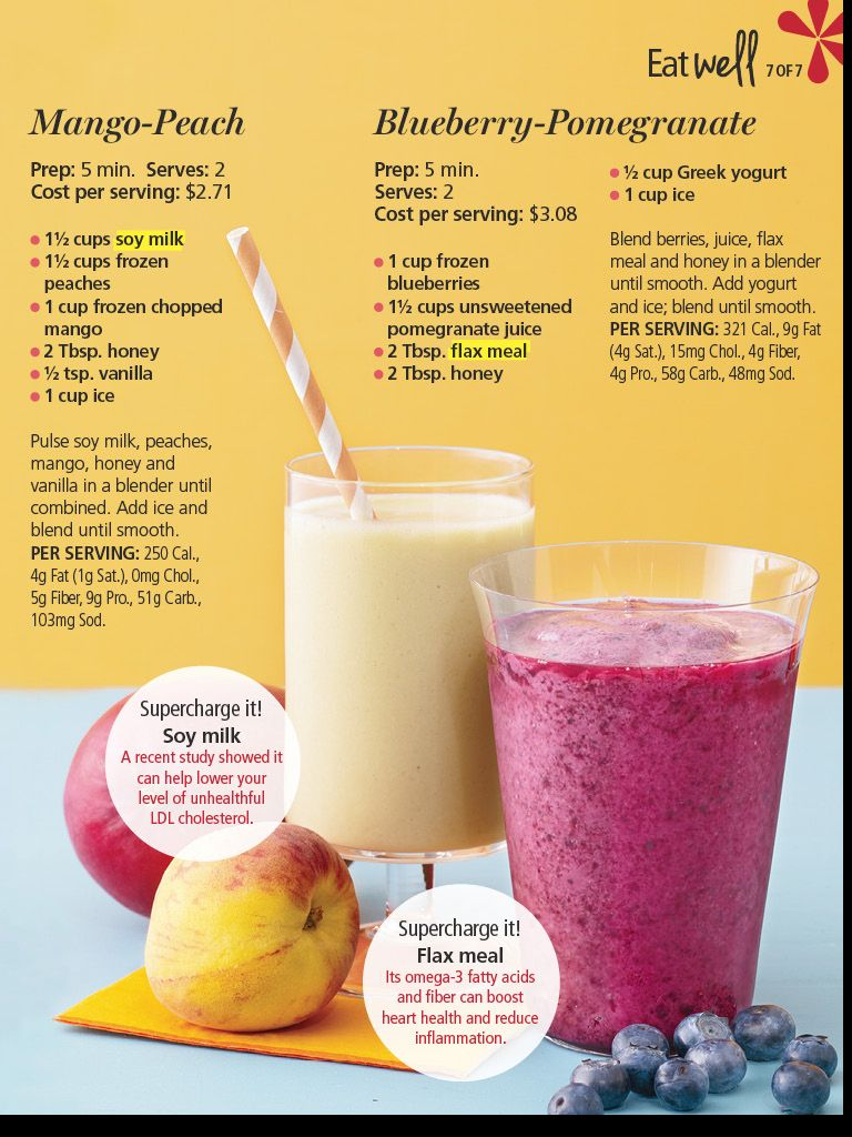types of fruit healthy fruit smoothie recipes with almond milk