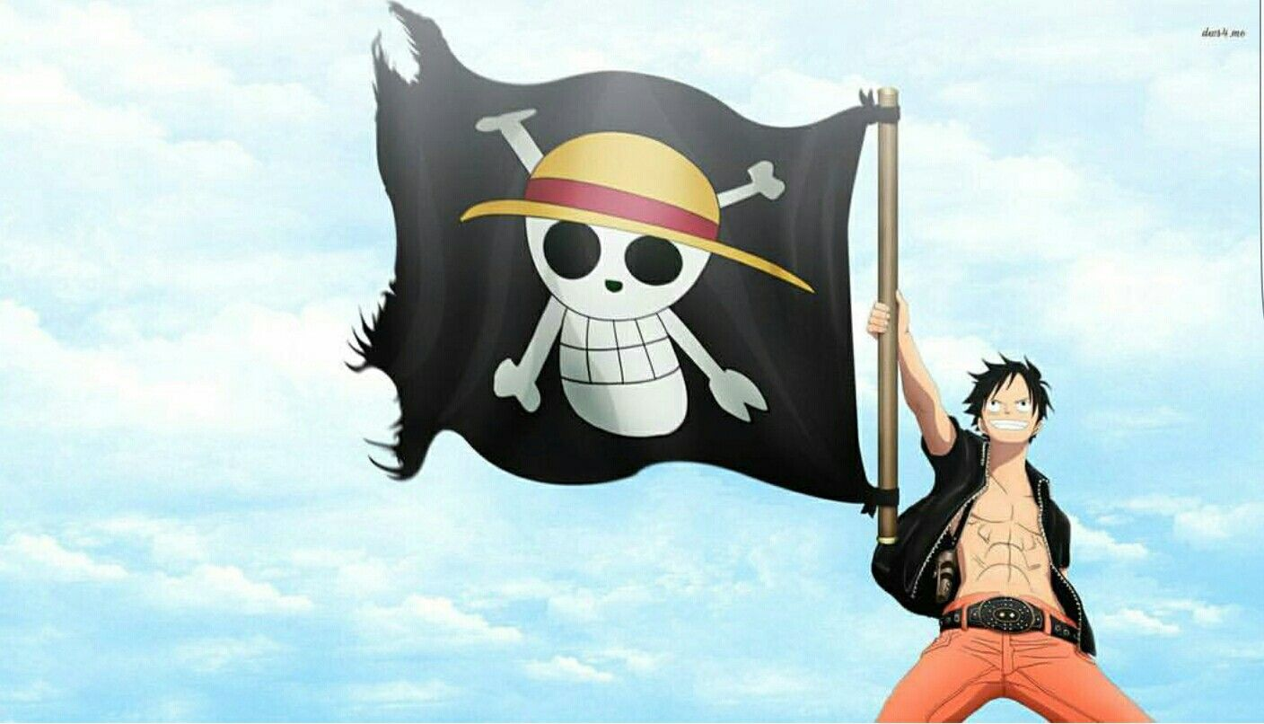 One Piece Strawhat jolly roger flag wallpaper HD wallpaper