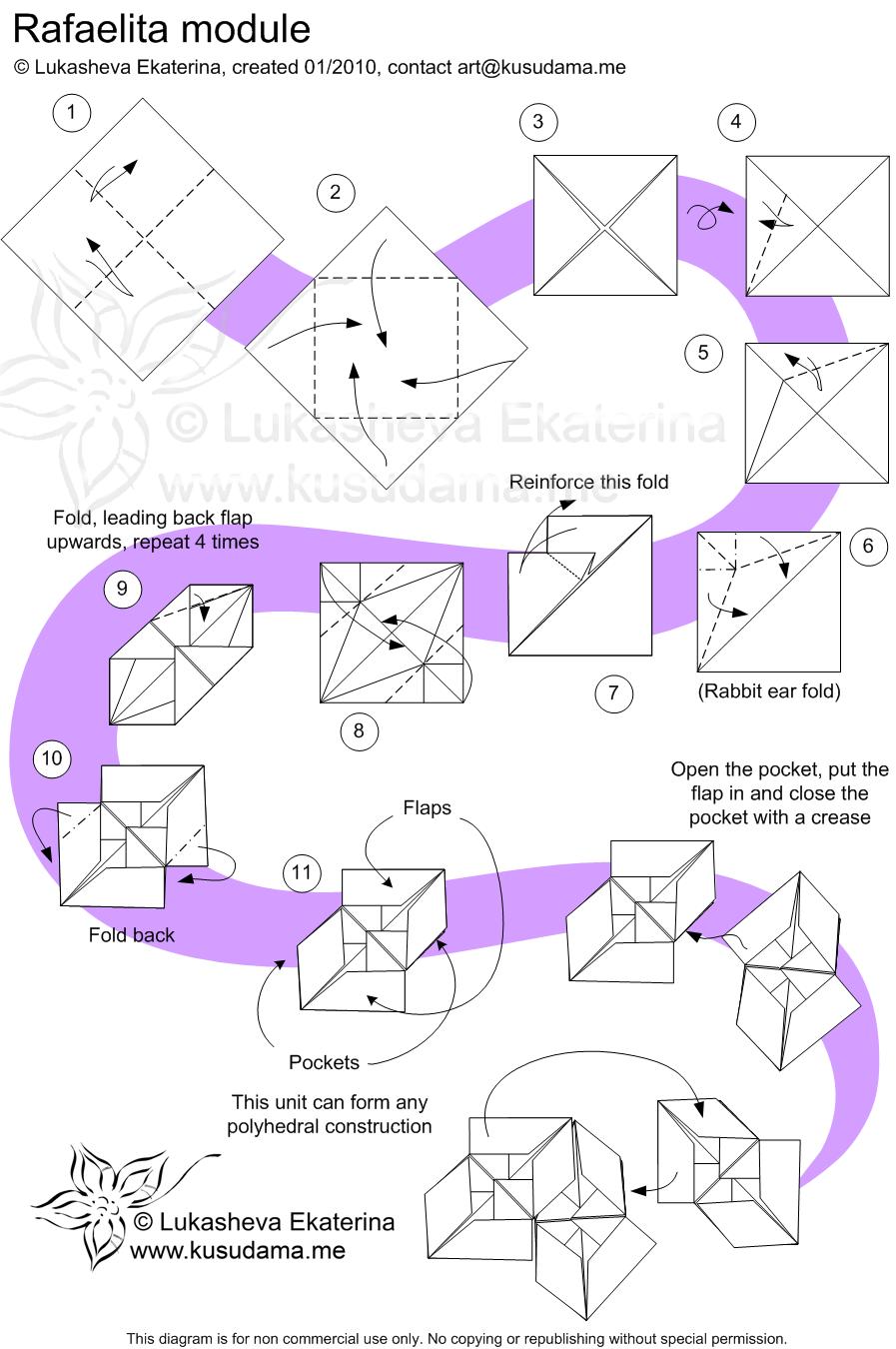 Оригами шариков с схемами