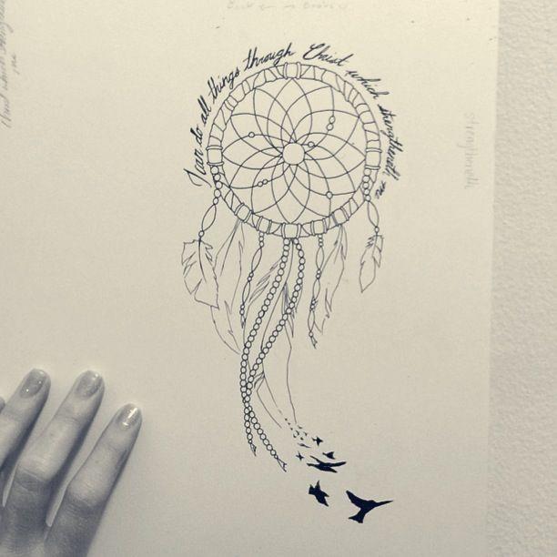 Dreamcatcher Tattoo Designs With Birds Design Phrases