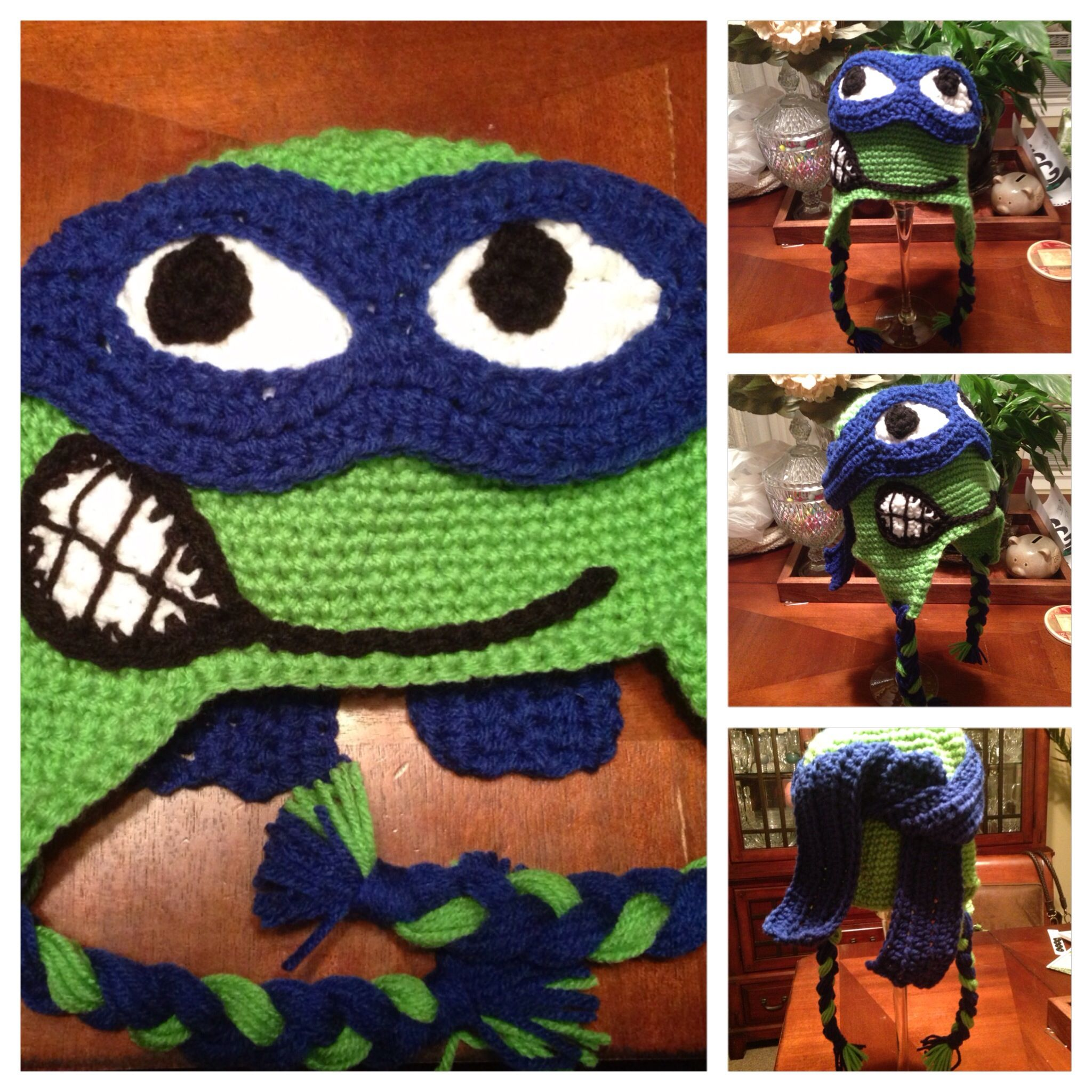 Crochet Ninja Turtles hat!! crochet Pinterest