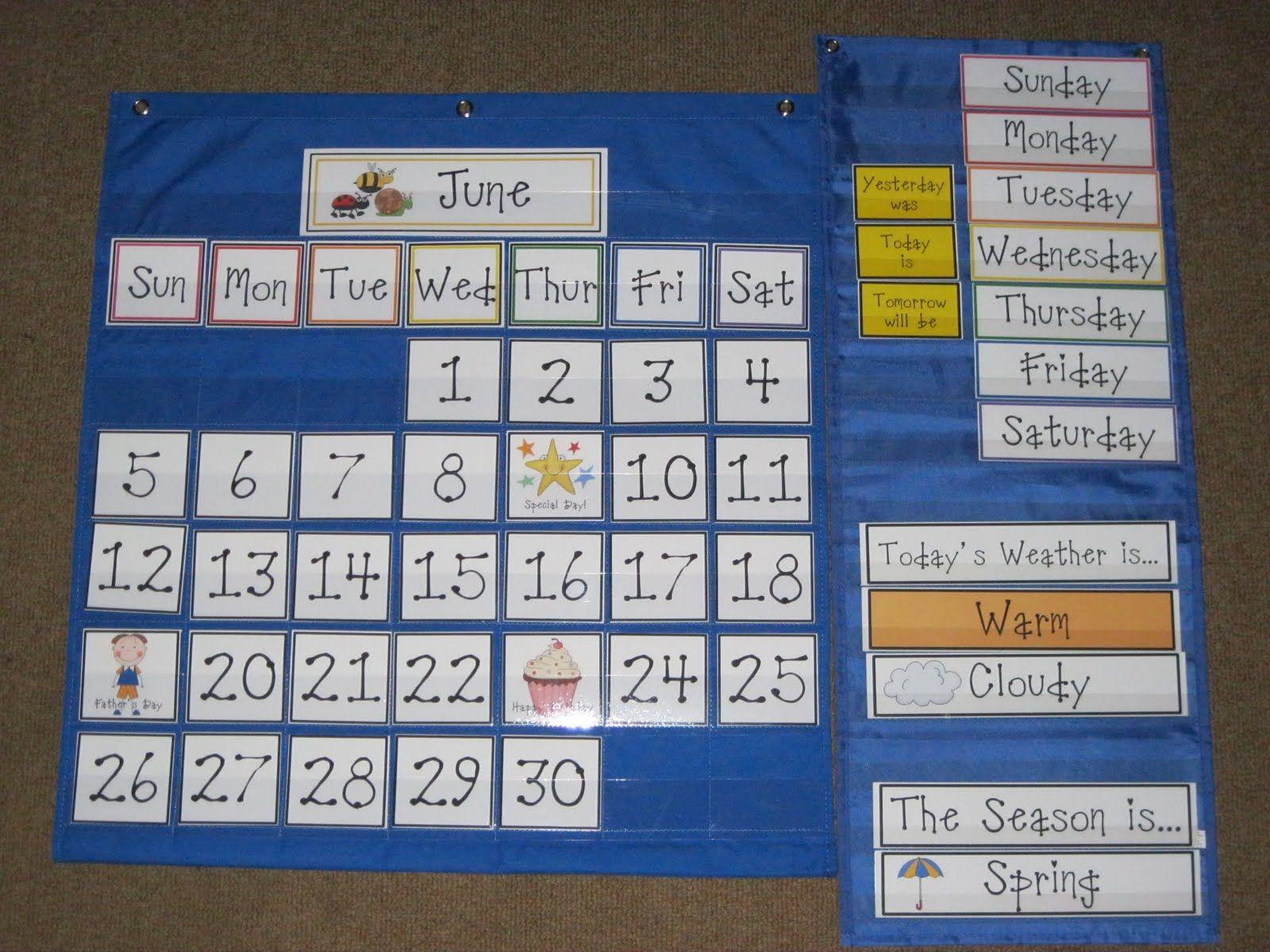 Classroom Calendar Chart : Calendar pocket chart classroom ideas pinterest