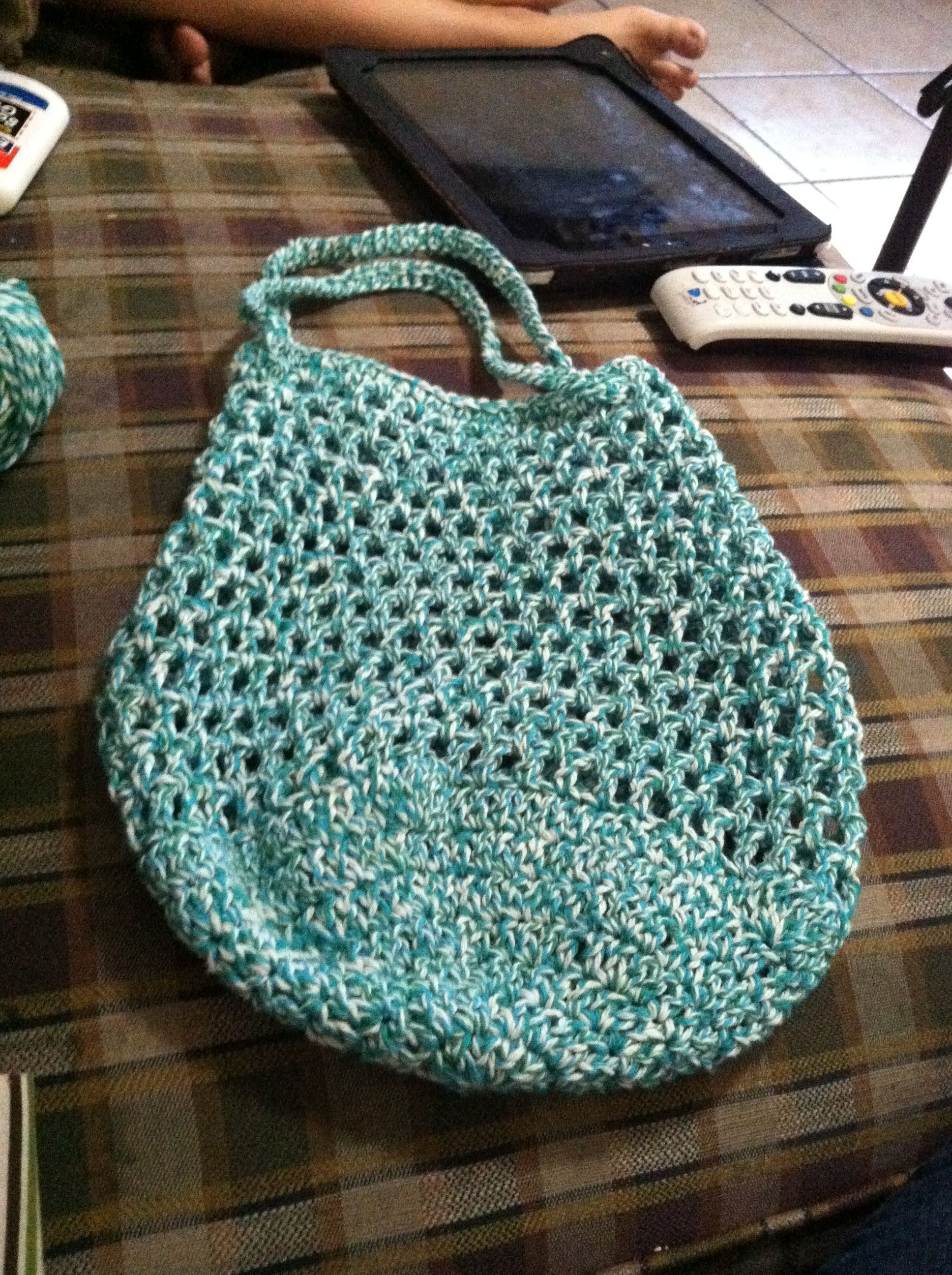 Crochet Lunch Bag Pattern : Crocheted lunch bag. Crocheting - Bags & purses Pinterest