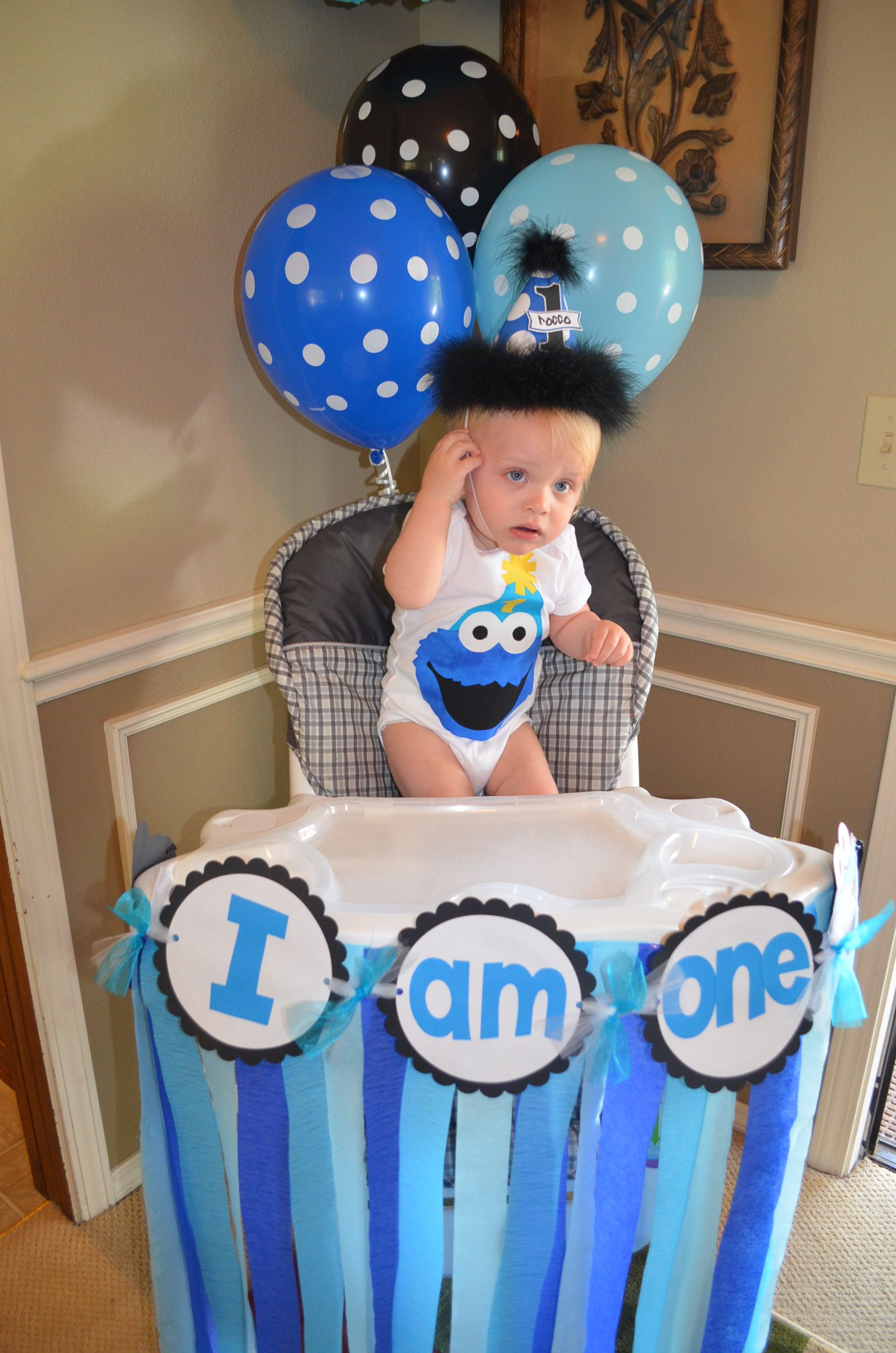 Cookie monster 1st birthday cookie monster party pinterest for 1st birthday decoration photos
