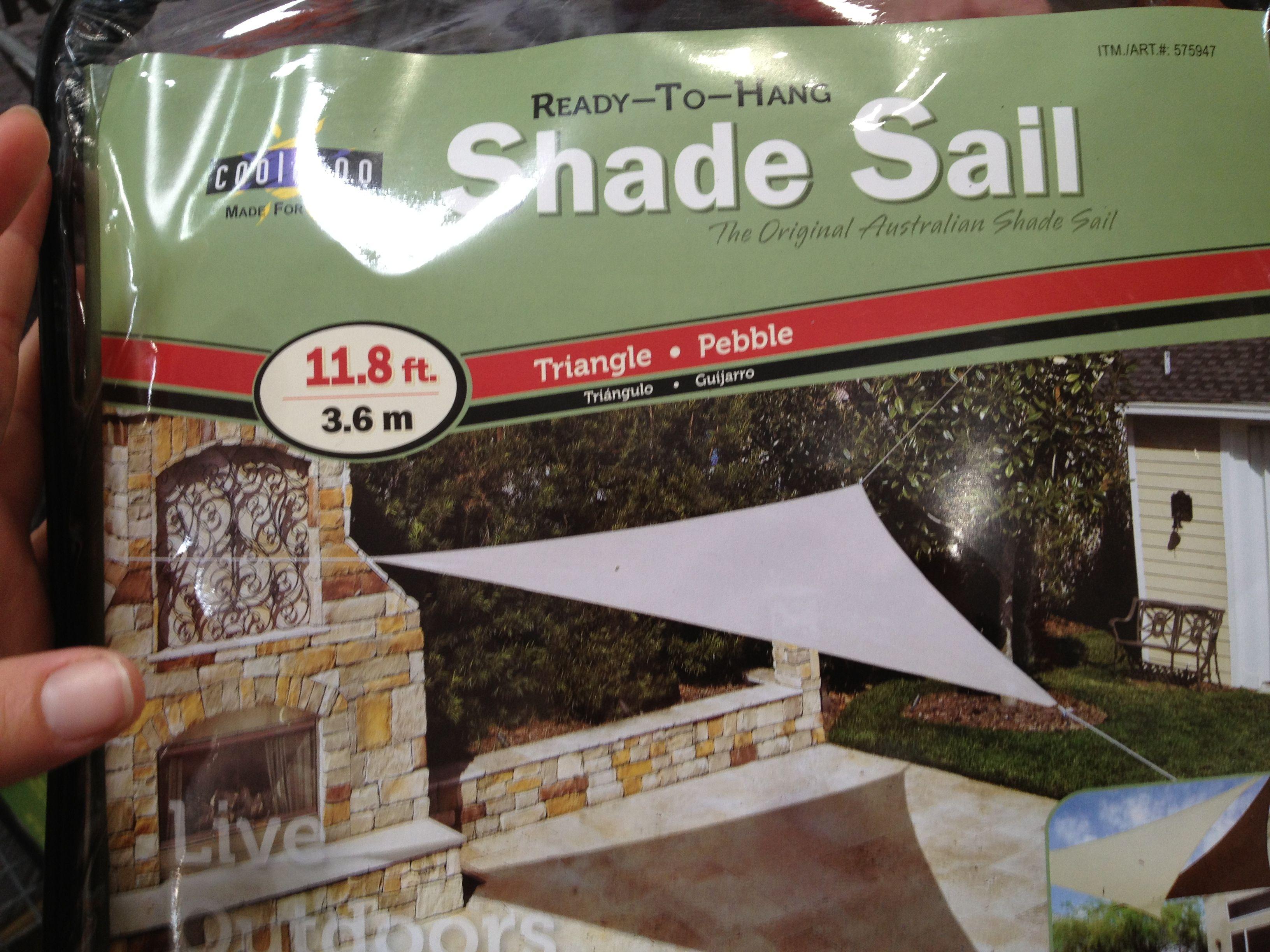 Triangle Shade Sail Via Costco Shade Sails Pinterest