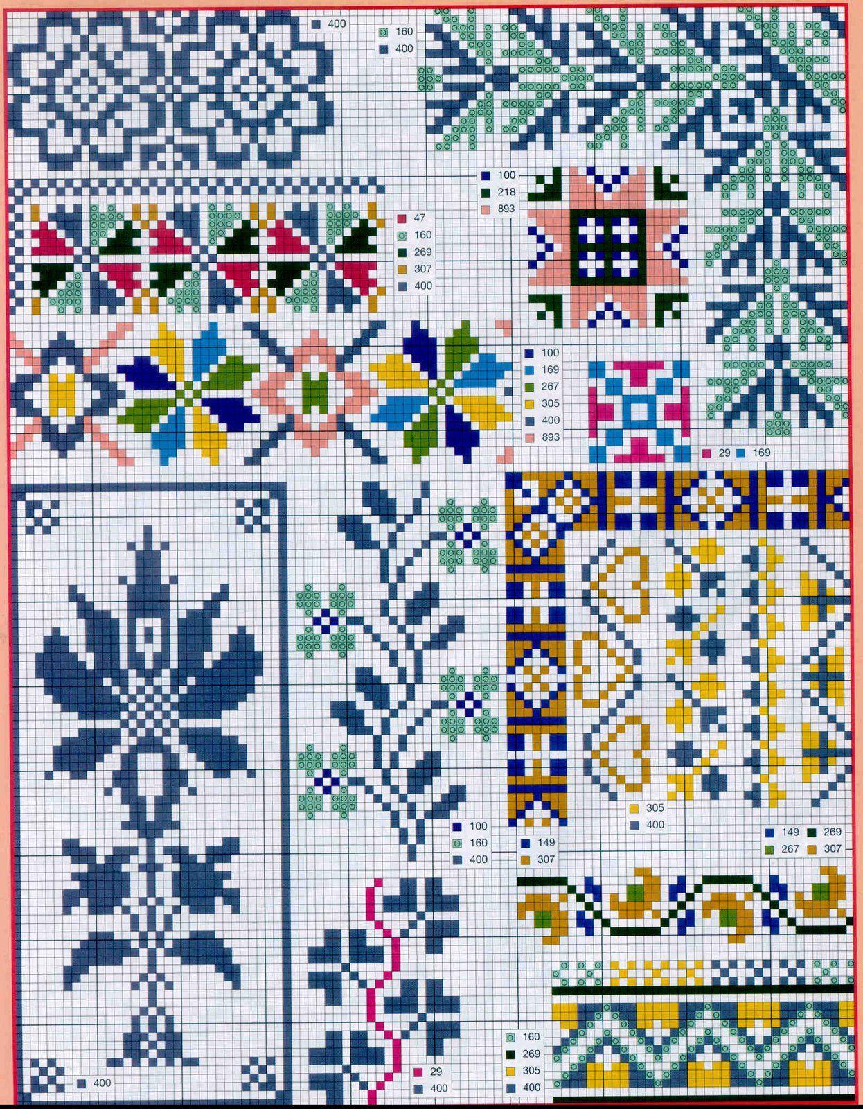 Схемы вышивок орнамента крестом