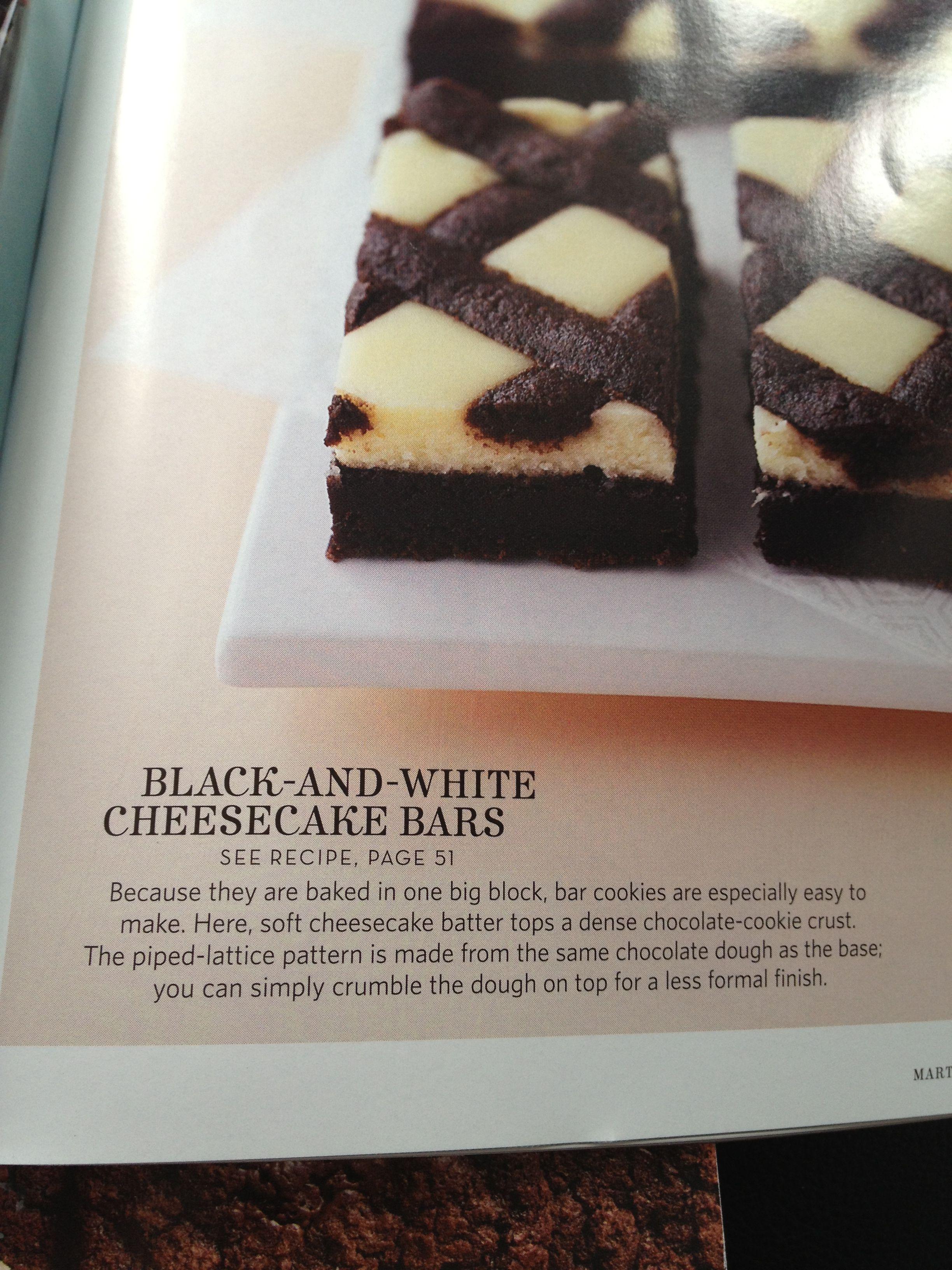 Black and white cheesecake bars | Desserts I Love | Pinterest