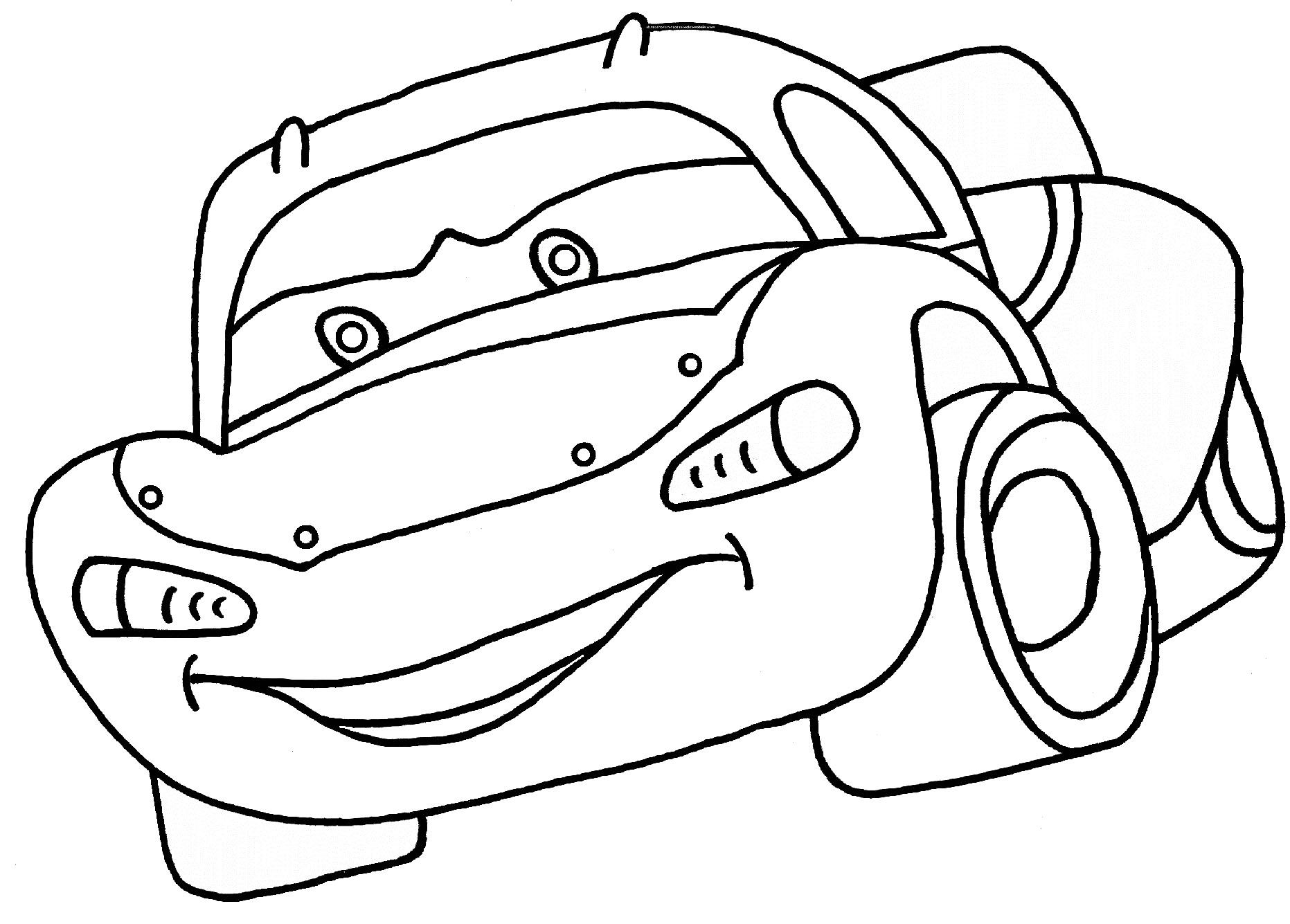 car coloring pages for 3 year olds sketch coloring page
