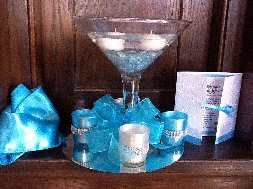 Martini glass centerpiece wedding ideas pinterest