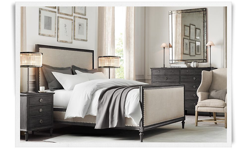 Restoration hardware bedding redo pinterest Master bedroom bed linens