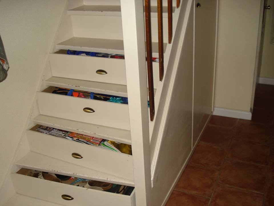 Stair drawers Miscelaneos Pinterest