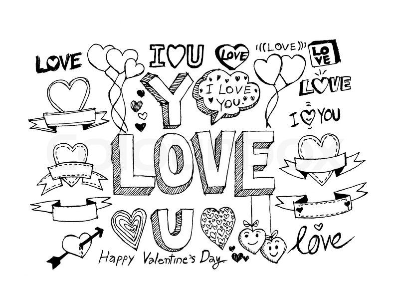 Resultado de imagem para valentines day drawings | Drawings ...