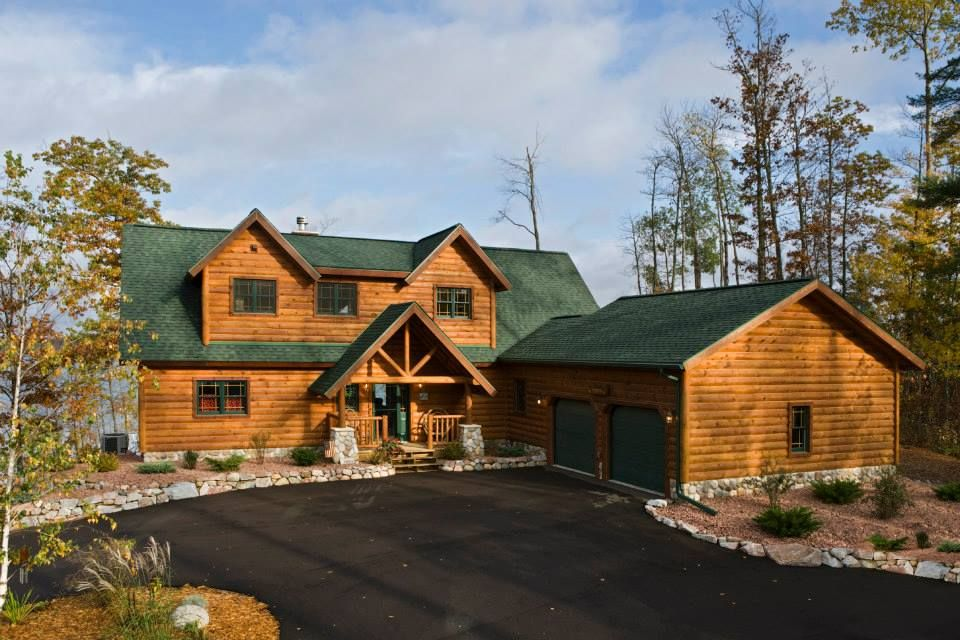 Log Home Log Cabin Beauty Pinterest