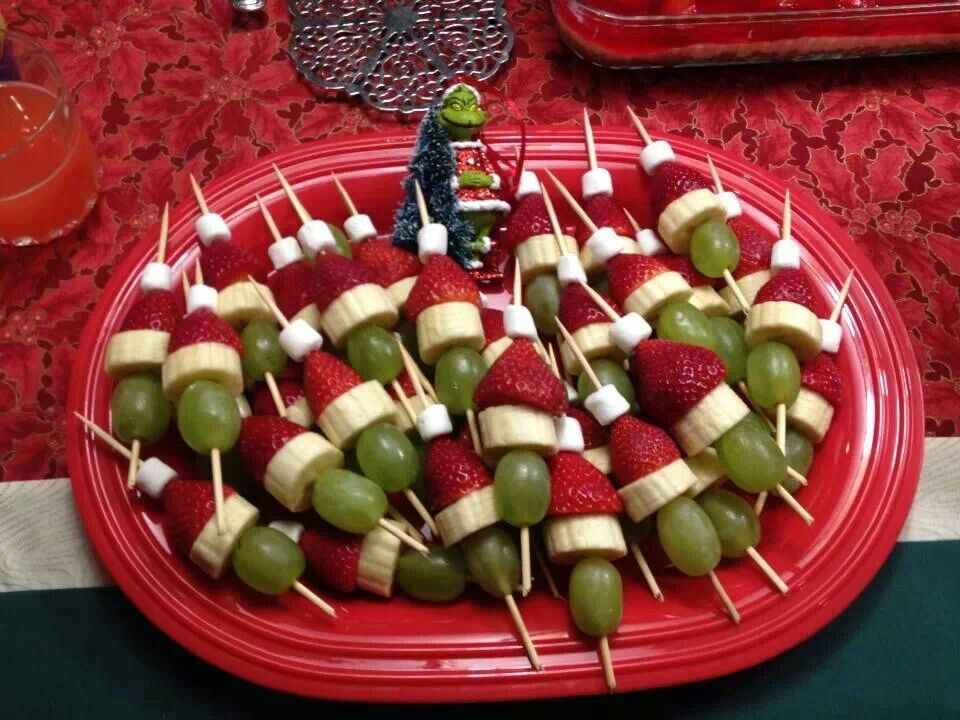 Grinch Appetizer Easy Fun Holidays Pinterest