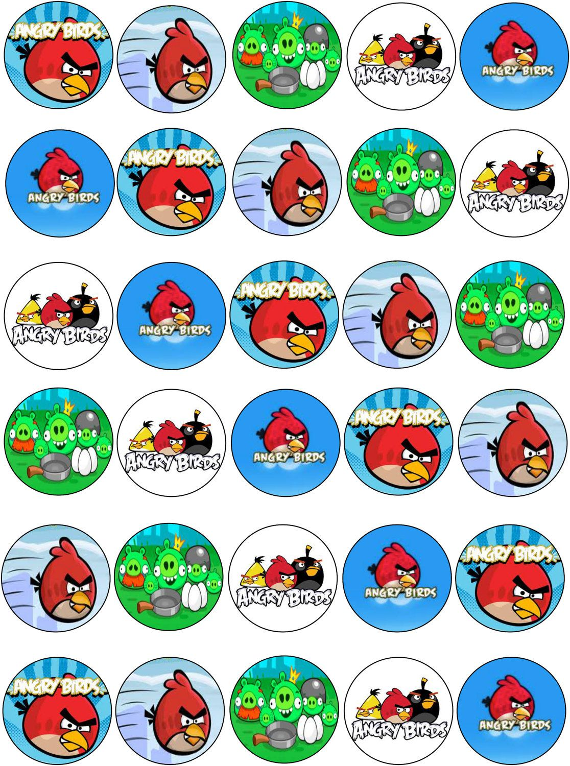 BakeBoss - Cake Decorating Baking Supplies New Angry birds edible cupcake images