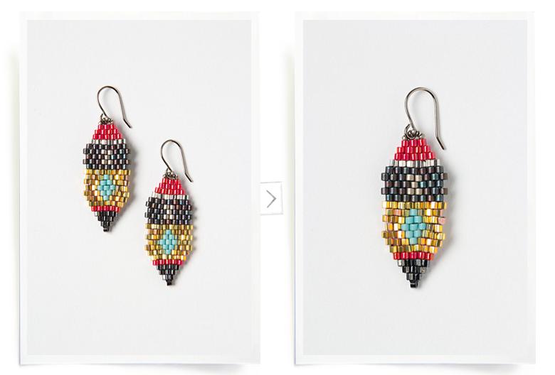 inspiration: seed bead earrings | DIY Projects: Jewelry | Pinterest