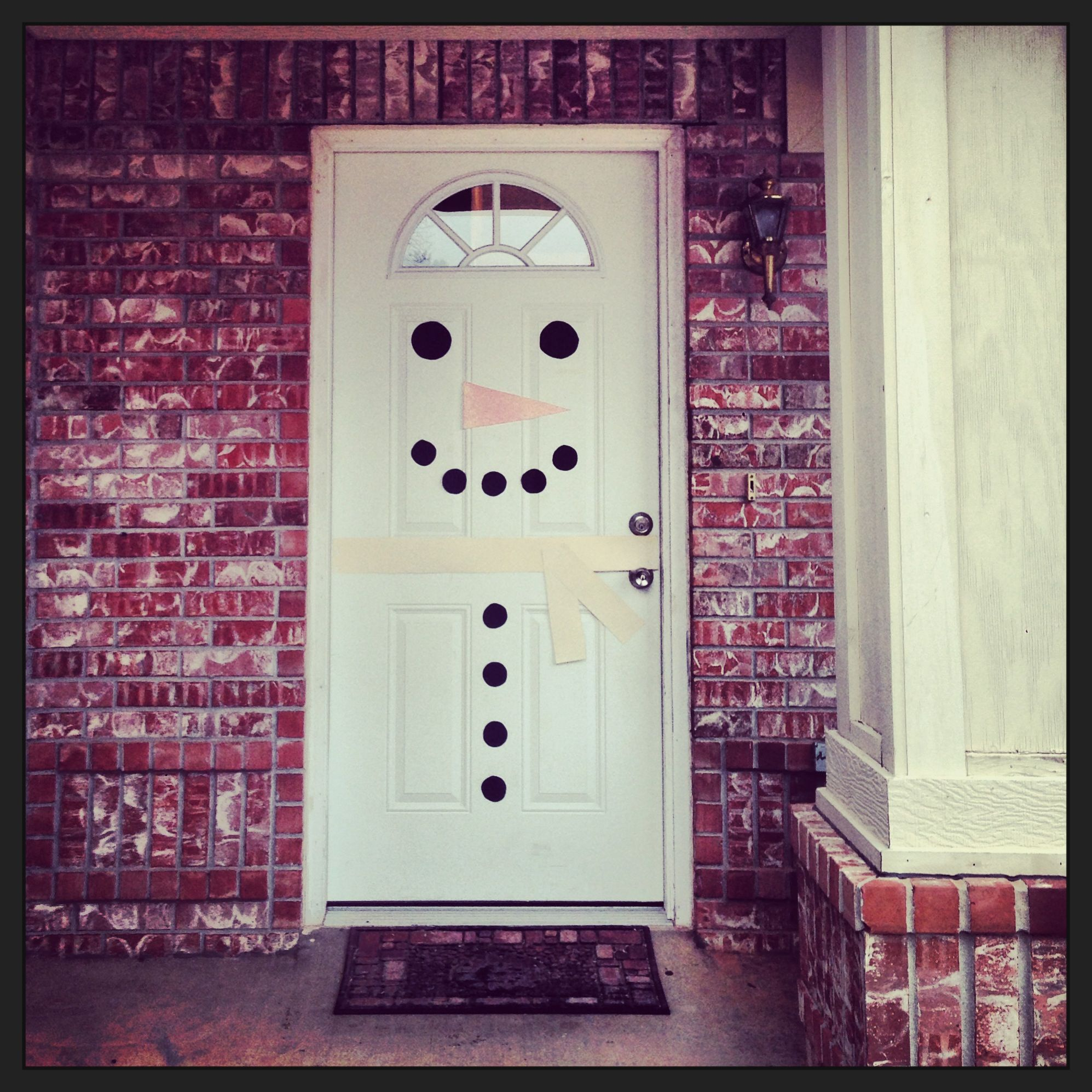 christmas snowman door decoration diy christmas pinterest