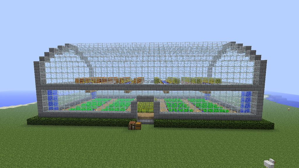 Greenhouse minecraft pinterest for How to make house green
