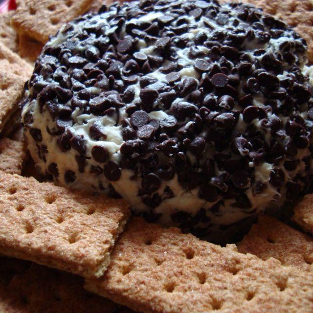 Chocolate chip cream cheese ball. | yummmy recipes. | Pinterest