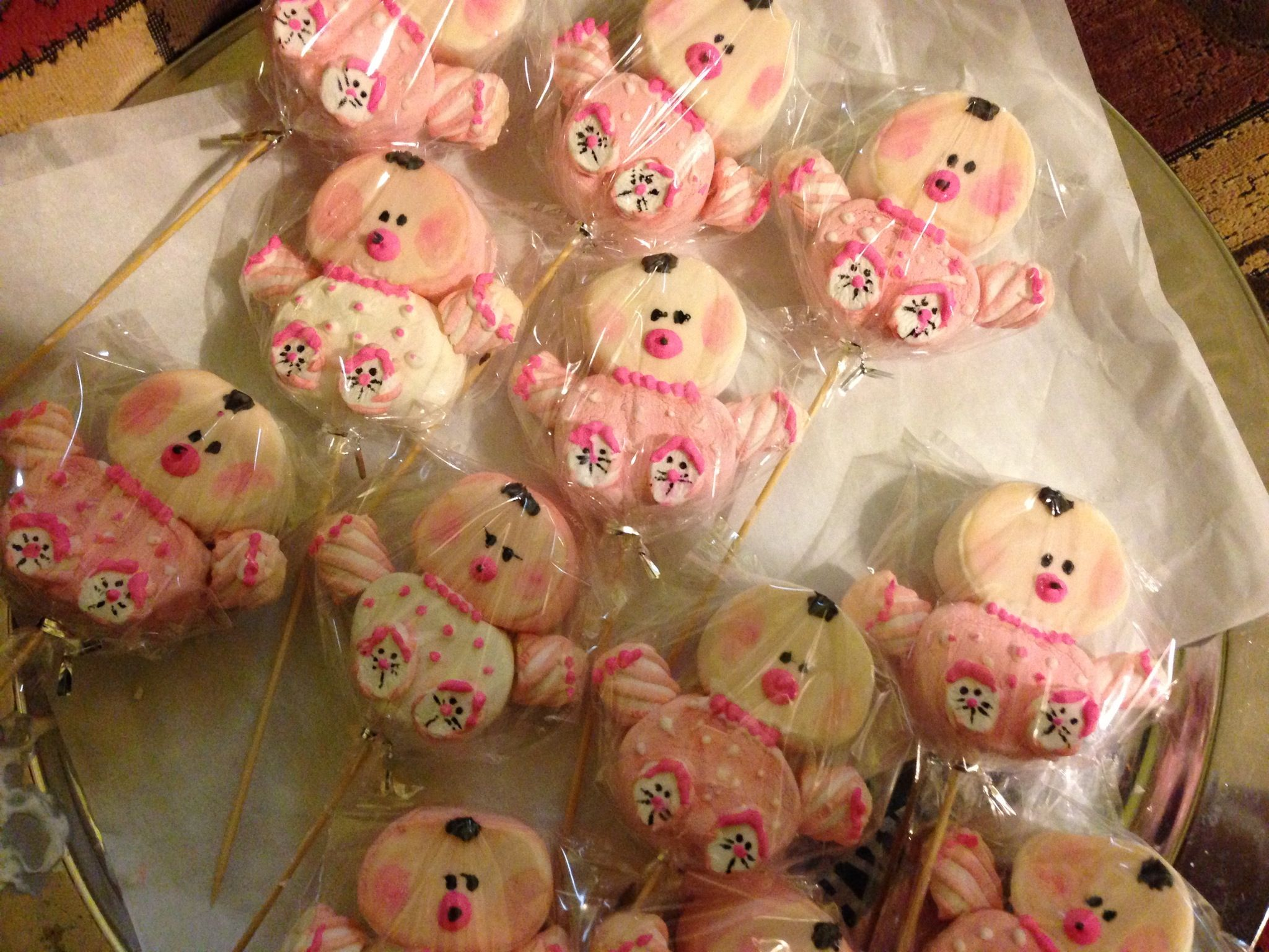 marshmallow baby pops baby shower pinterest