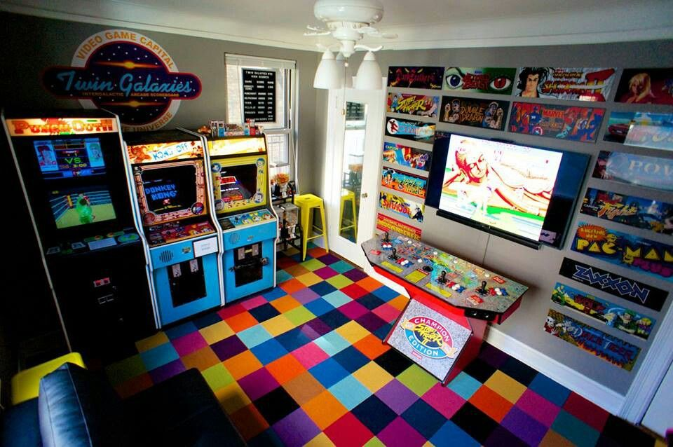 Game Room Arcade Video Games Pinterest