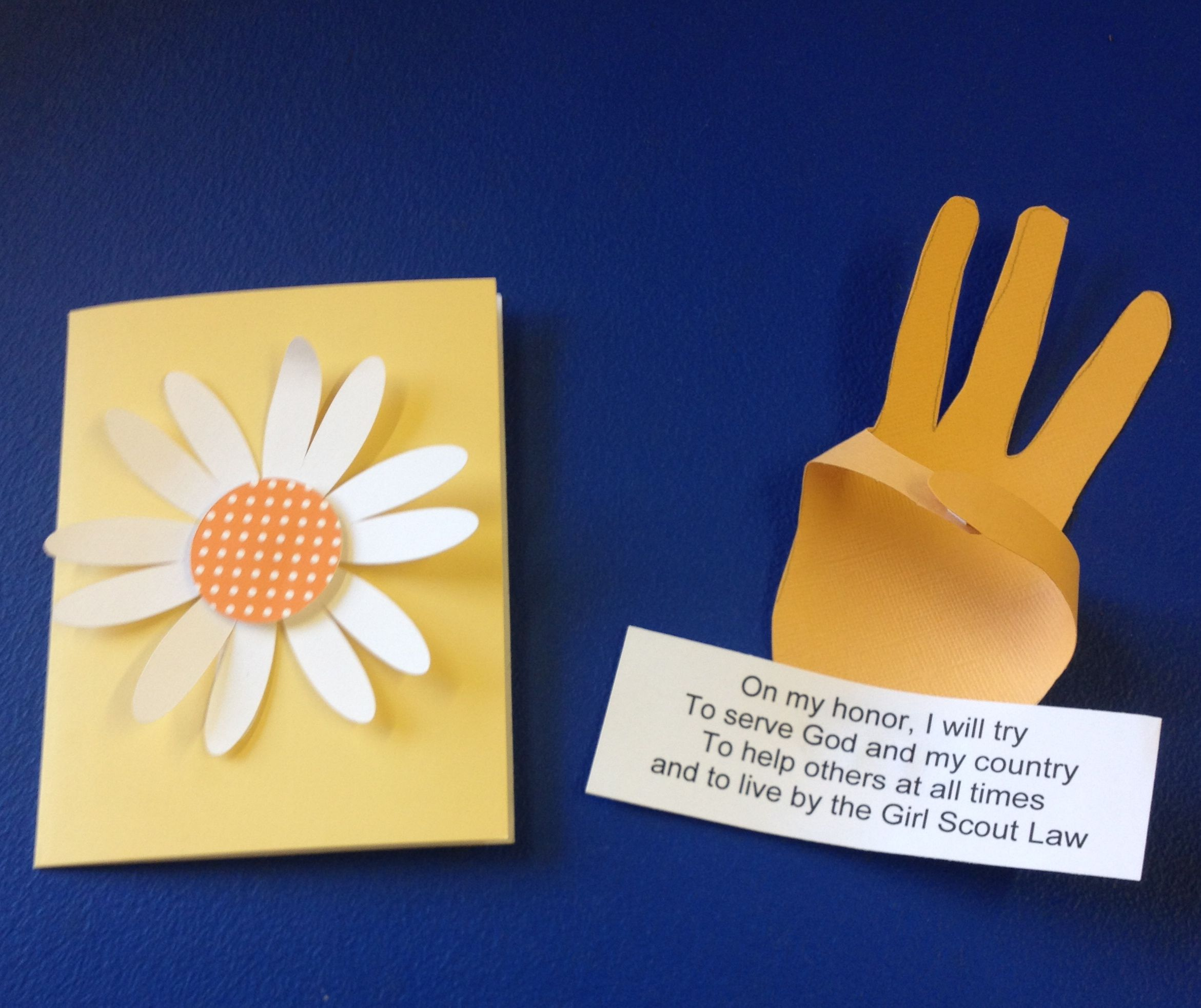 Ideas for daisy investiture ceremony just b cause for Girl scout daisy craft ideas