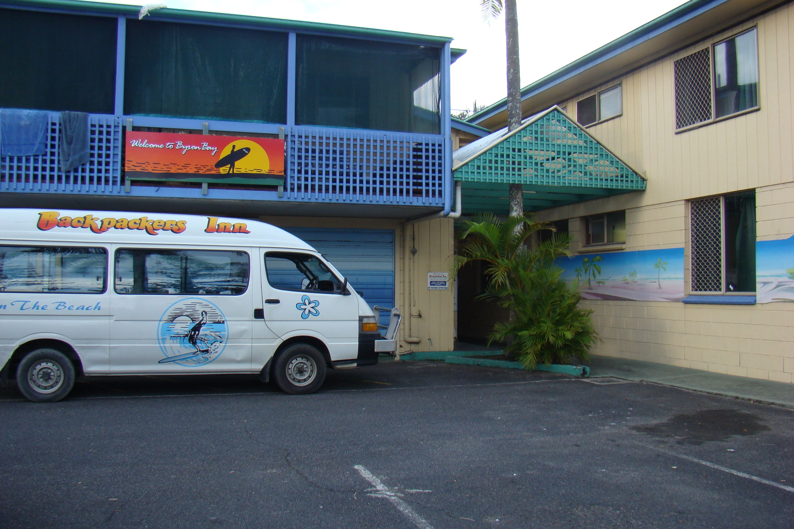Backpackers Inn (Byron Bay // Australien): Eingang