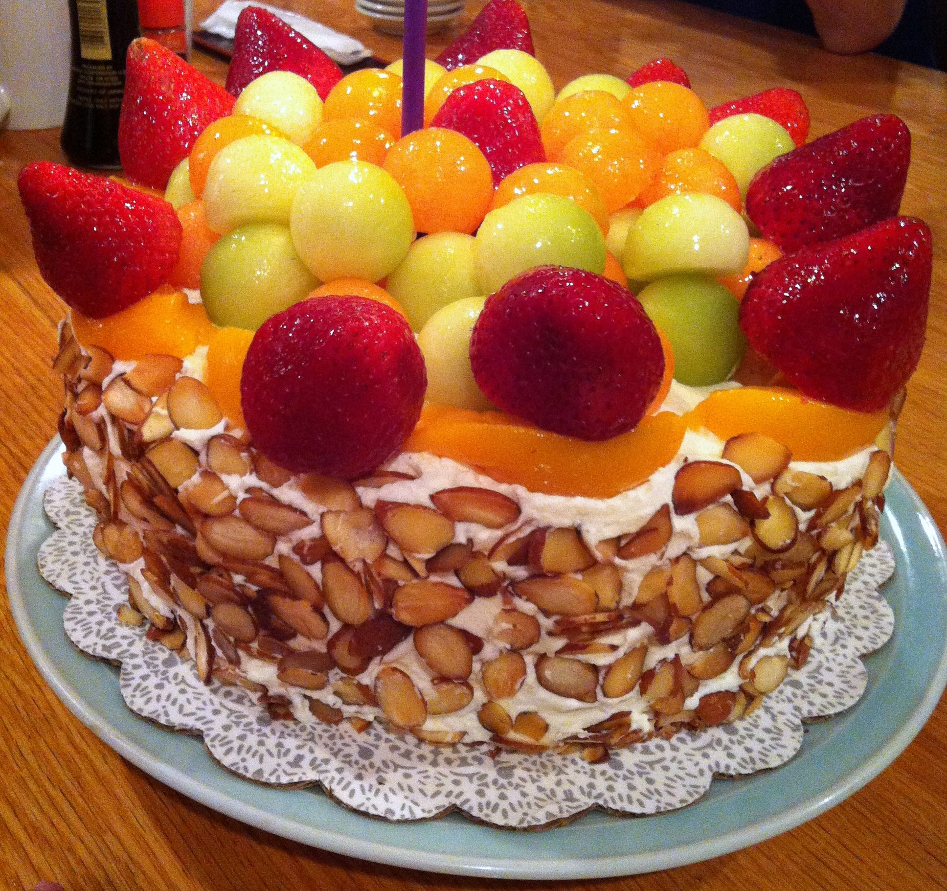 Humongous home-made fruit birthday cake!  For The Health Of It  Pin ...