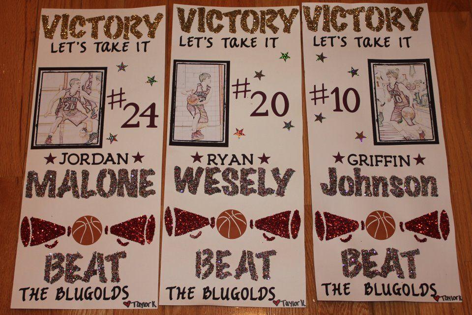 Cute basketball signs ideas