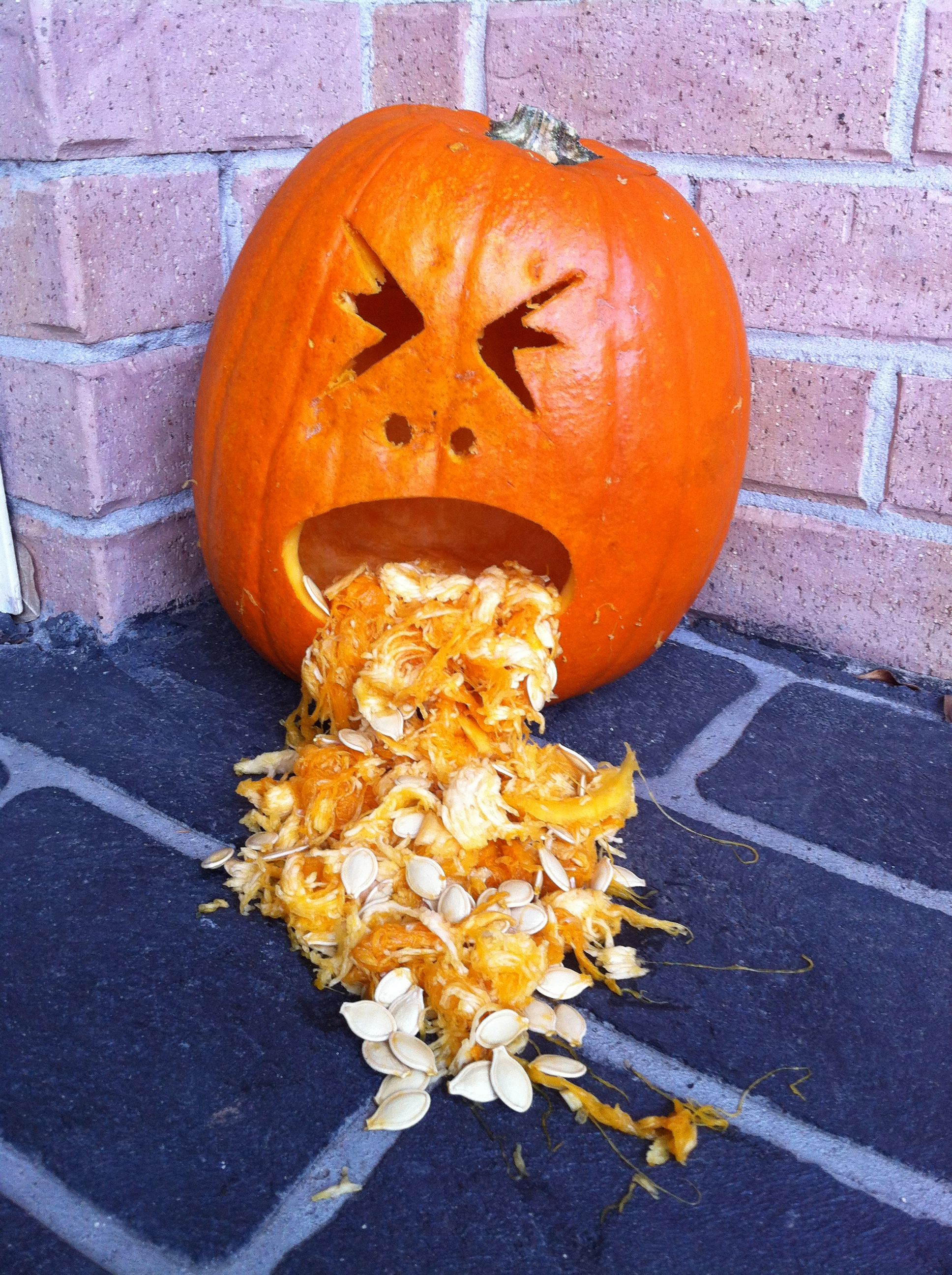 puking pumpkin halloween stuff pinterest
