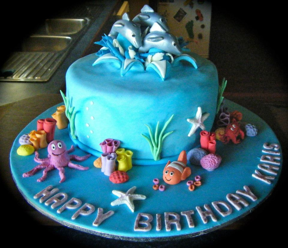 dolphin cake designs