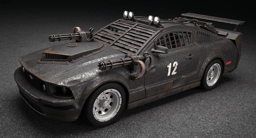 Death Race Mustang | Apocalypse / Zombie / Military Car ...
