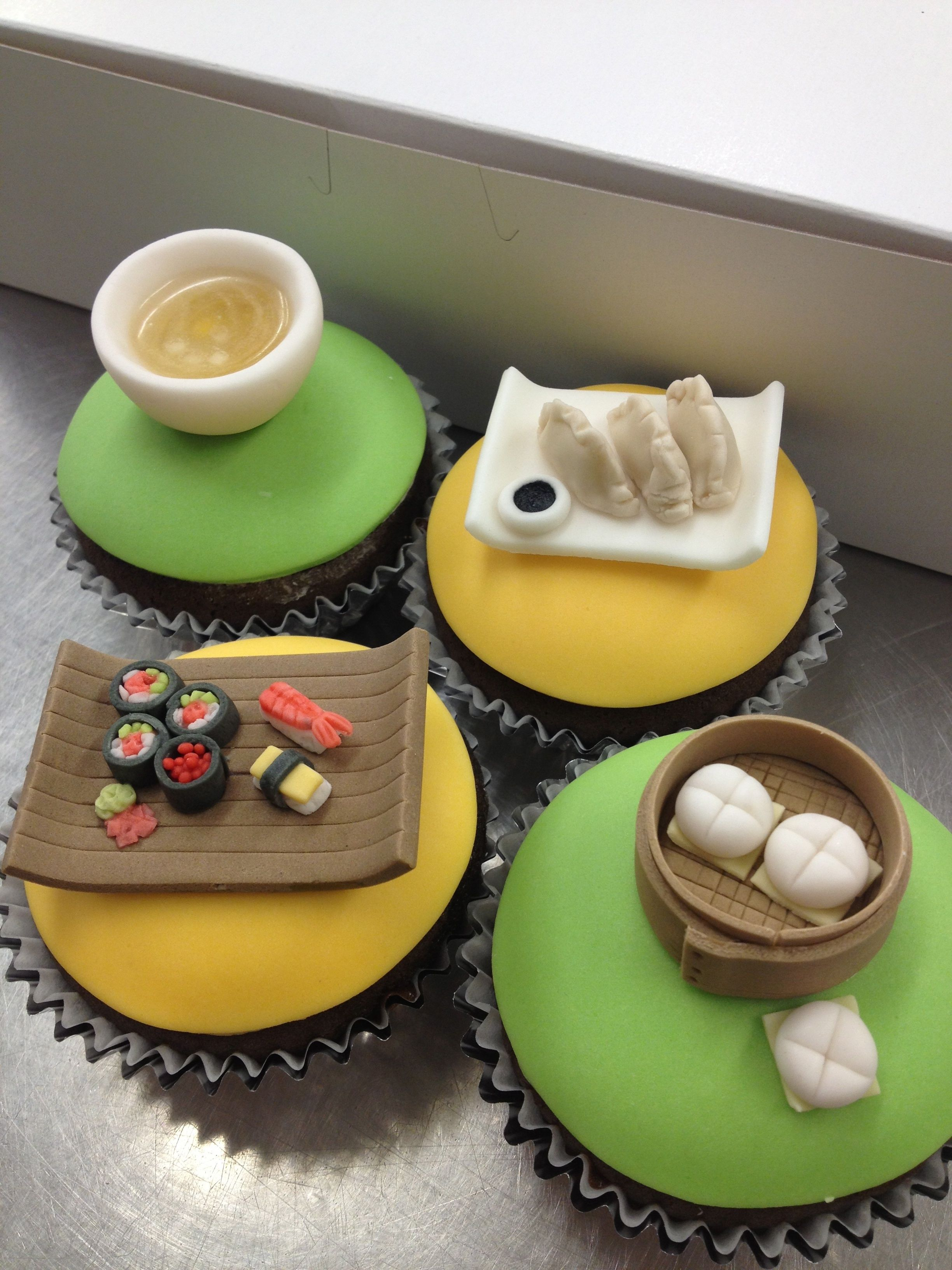 Asian dishes cupcakes... nom...nom... | Asia / Thai / Koreanisch ...