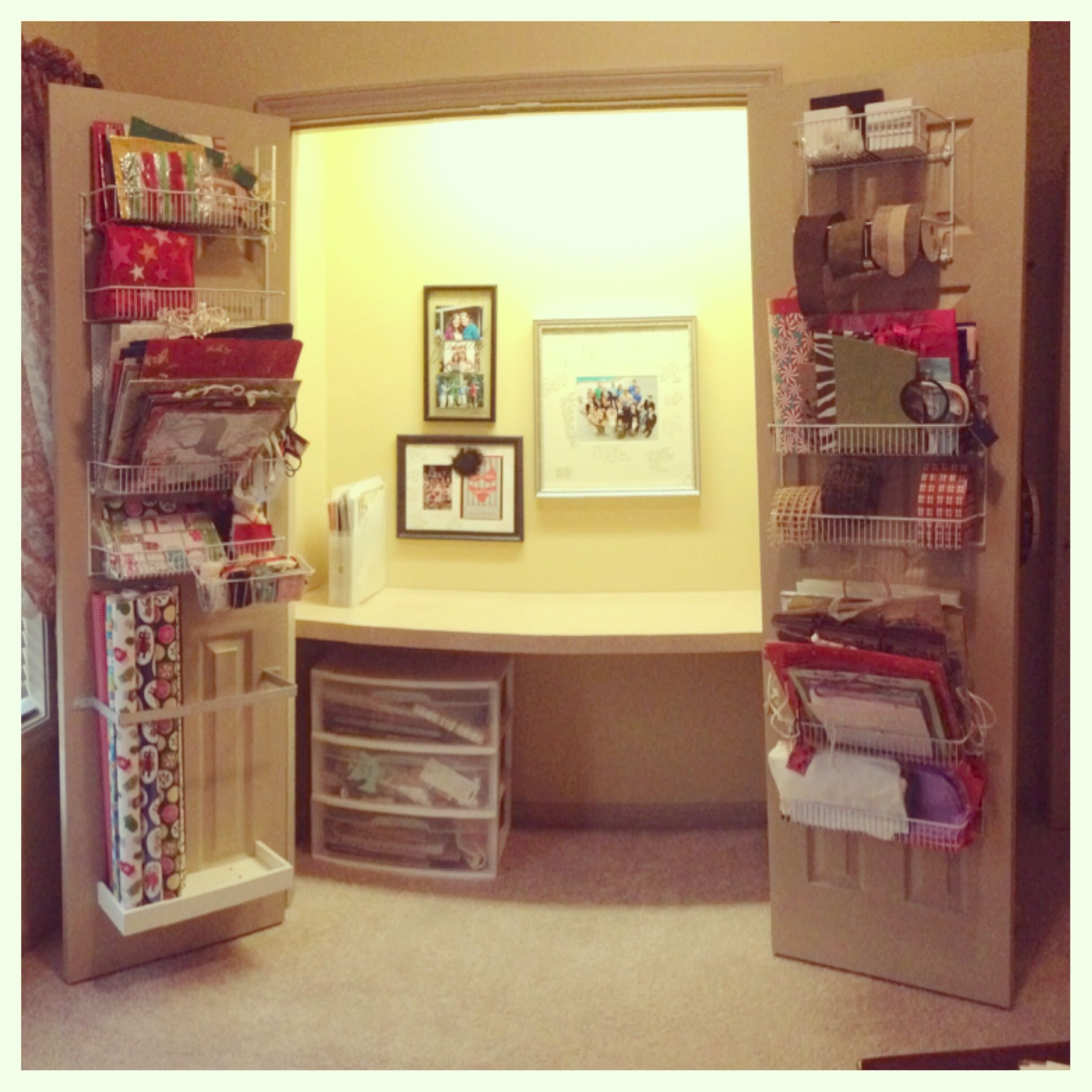 Craft Closet Desk In Closet Home Ideas Pinterest