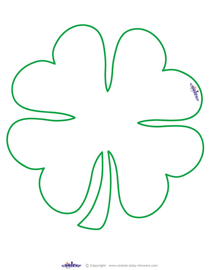 4 leaf clover coloring picture - a-k-b.info