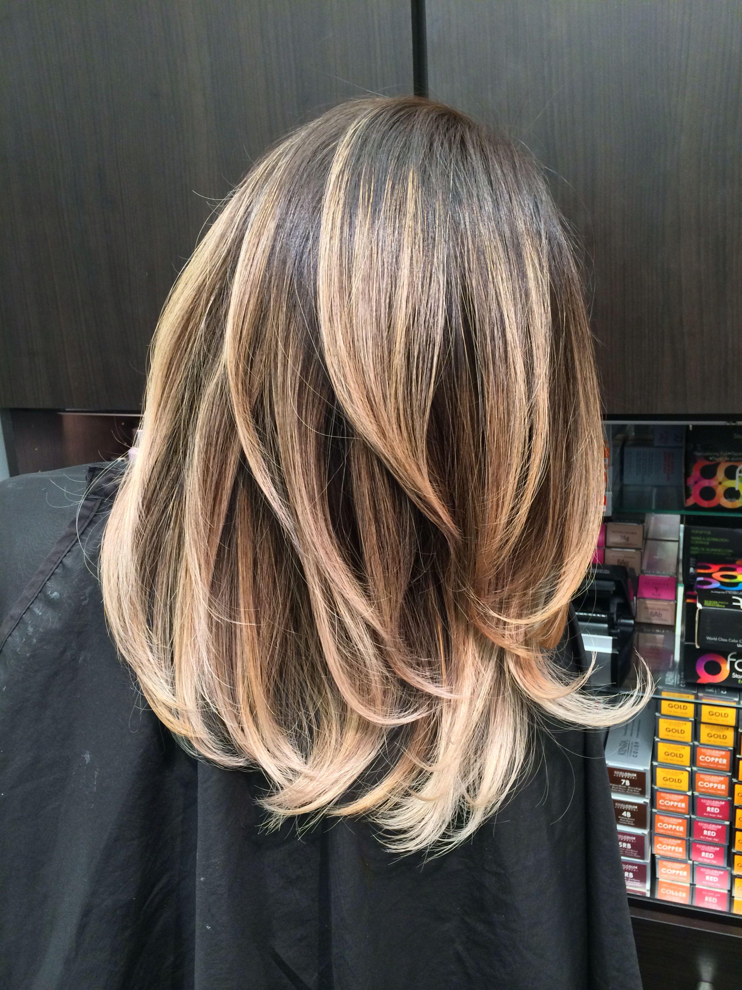Мелирование концов волос в домашних условиях