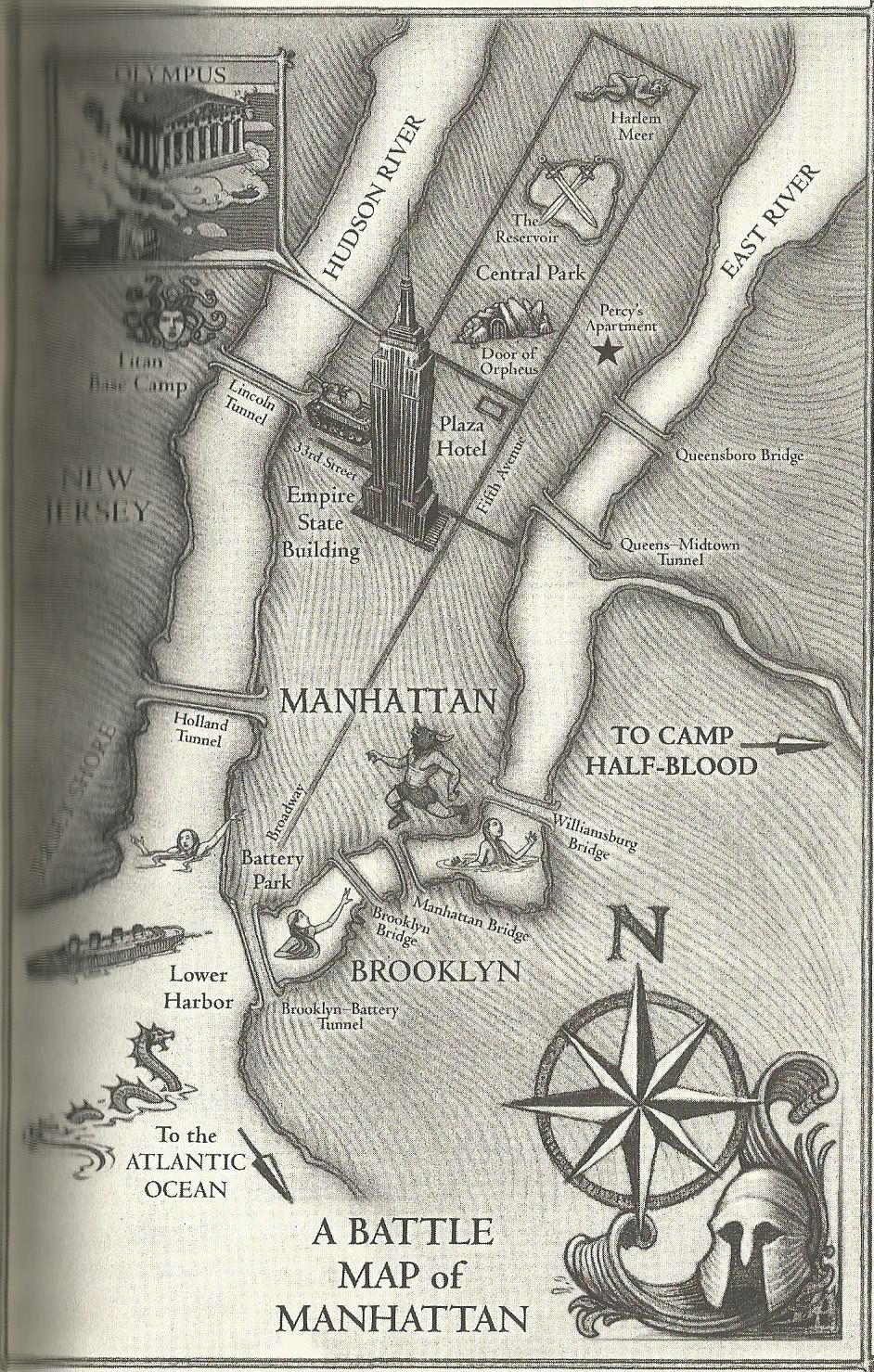 Battle Map From Percy Jackson And The Olympians  Percy