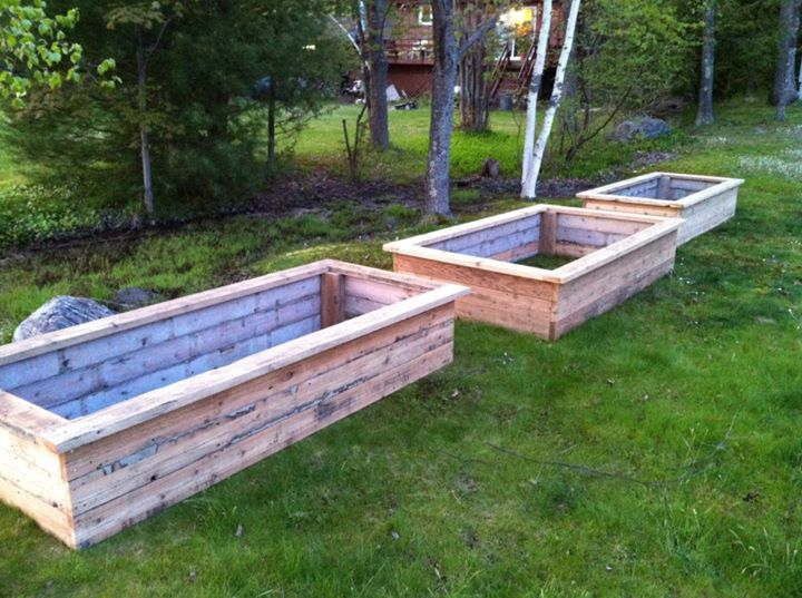Cedar Raised Beds Garden Landscaping Pinterest